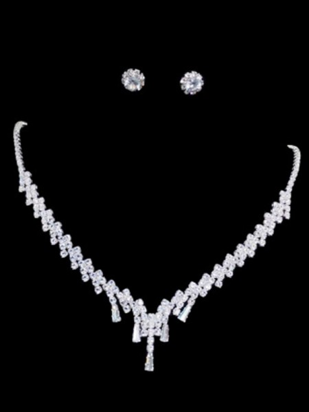 Damen Korean Trending Strass Schmuck Set