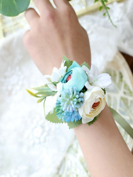 Graceful Wedding Blume Cloth Handgebundene Handgelenkskorsage