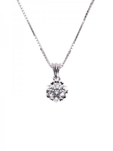 Ladies 'Simple S925 Silver Necklaces
